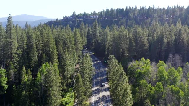 Aerial Video of Lake Tahoe in California