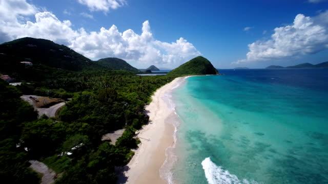 aerial video of Long Bay, Tortola, British Virgin Islands video