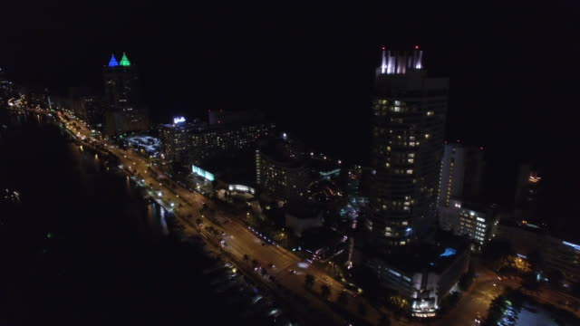 Aerial video of Miami Beach Collins Avenue 50th Street video