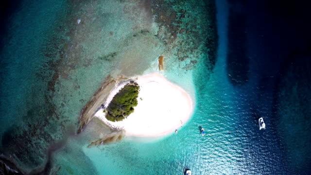 aerial video of Sandy Spit, British Virgin Islands video
