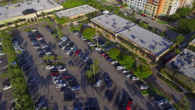 Aerial video of shopping centers Stock aerial footage of a shopping centers with multiple stores shopping mall stock videos & royalty-free footage