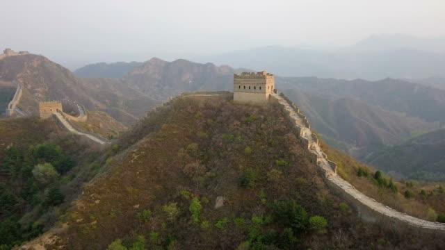 vidéos et rushes de vidéo aérienne de the great wall of china - 2018
