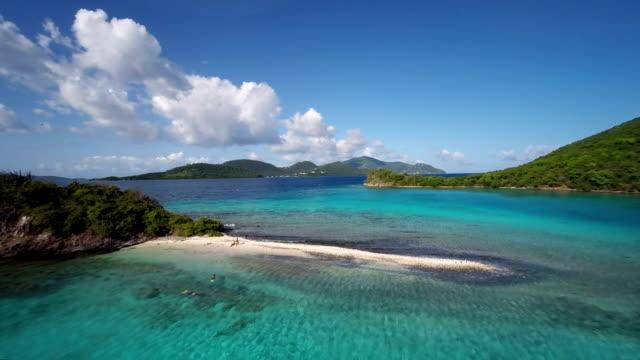 aerial video of Waterlemon Cay, St.John, US Virgin Islands video