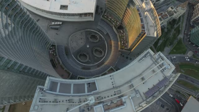 aerial video shooting with drone on milan skyline - quartiere generale video stock e b–roll
