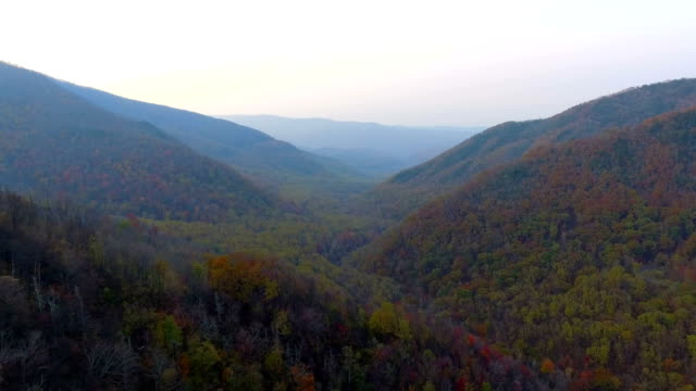 Aerial video Smokey Mountains Tennessee video