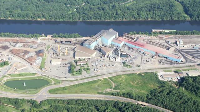Aerial Video Steel Plant video