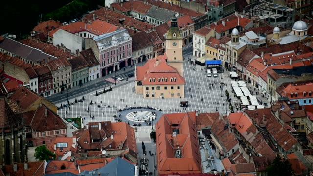 Aerial video with Transylvania's Brasov video