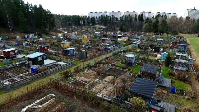 luftaufnahme zuteilungen - urban gardening stock-videos und b-roll-filmmaterial