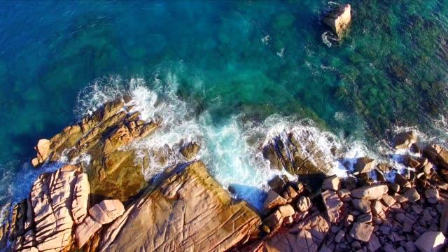 Aerial view: Anse Cocos, La Digue Island, Seychelles video