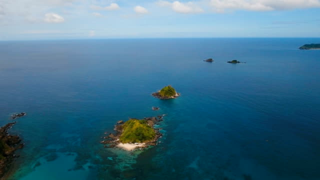 Aerial view beautiful beach on a tropical island. Philippines, El Nido video