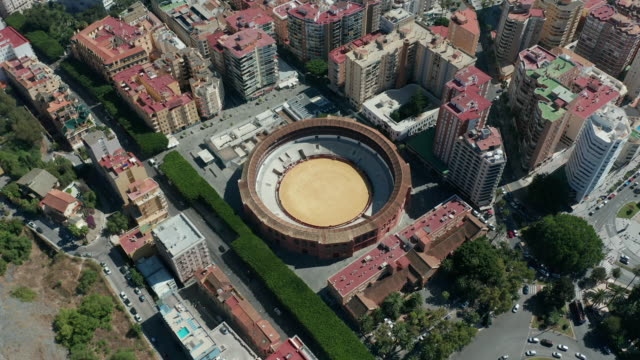 Aerial view. Plaza de Toros, Malaga, Spain