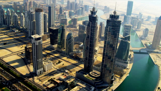 Aerial view Burj Khalifa,  Dubai video