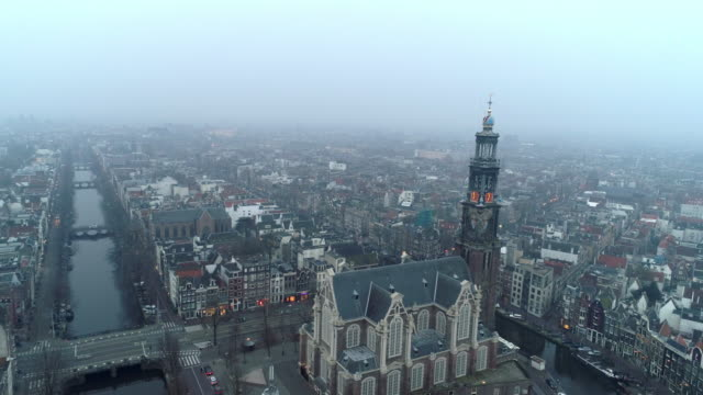 flygfoto domkyrkans torn - drone amsterdam bildbanksvideor och videomaterial från bakom kulisserna
