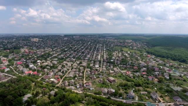 Aerial view city center - vídeo