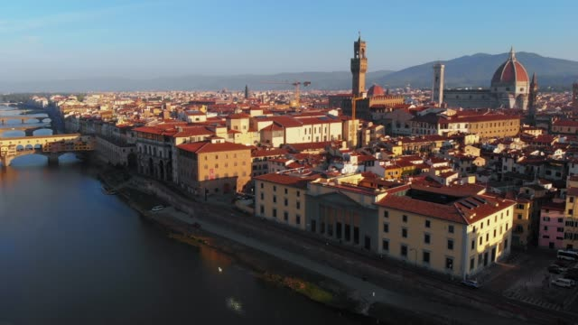 Aerial view - Cityscape in the morning, Florence, Italy