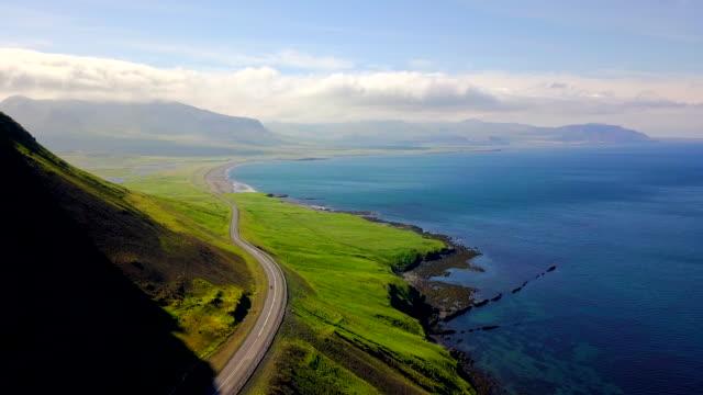flygfoto västra islands kuster - kustlinje bildbanksvideor och videomaterial från bakom kulisserna