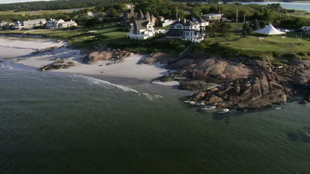 Aerial View, coastal mansions video