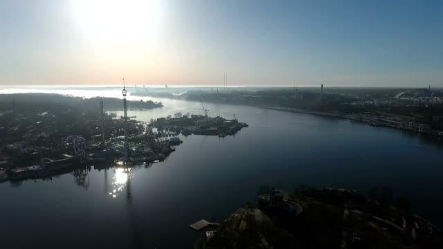 Aerial View Djurgården Stockholm video