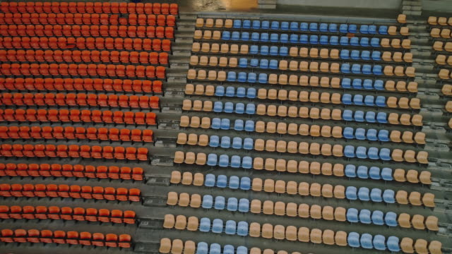Aerial view Empty seats in a stadium