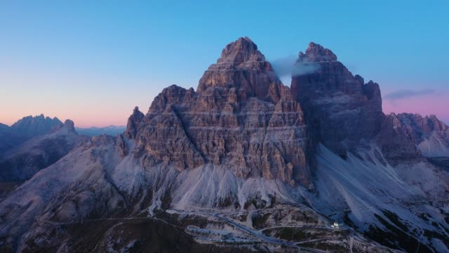 aerial view. fly over Dolomites Alps  in the Tre Cime Di Lavaredo, Italy aerial view. fly over Dolomites Alps  in the Tre Cime Di Lavaredo, Italy beauty in nature stock videos & royalty-free footage