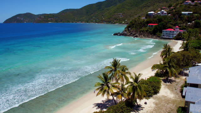 Aerial view from Long Bay, Tortola video