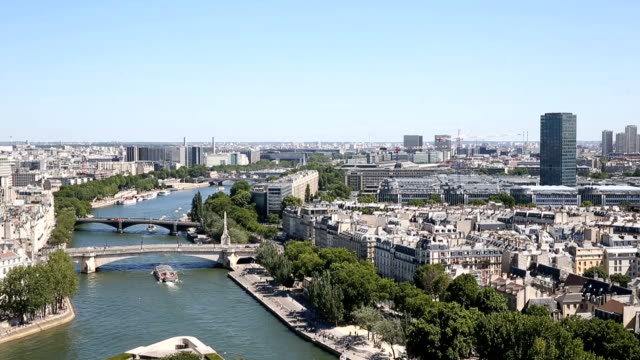 aerial view from the top of notre dame cathedral - paris fashion stock videos & royalty-free footage