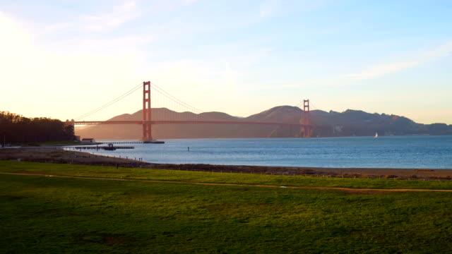 Aerial View Golden Gate Bridge San Francisco California video