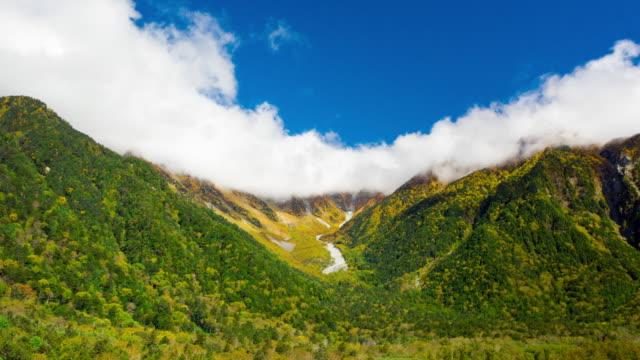 vídeos y material grabado en eventos de stock de vista aérea hiper lapso japón alpes y cielo despejado agradable moviendo movimiento - diseño natural