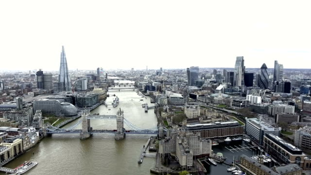 Aerial View Iconic Landmarks and Cityscape of London 4K UHD video