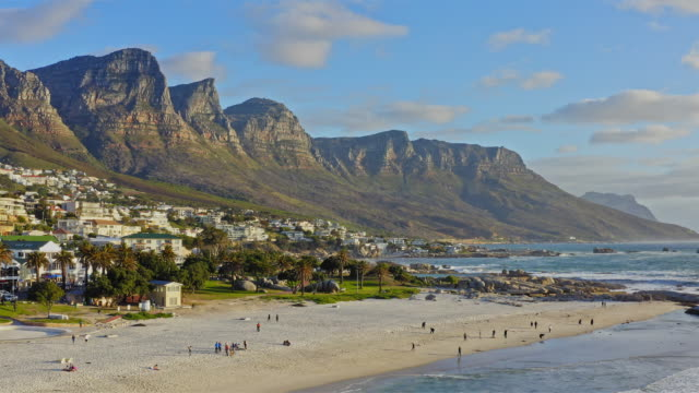Aerial view in Camps Bay, Cape Town, South Africa video