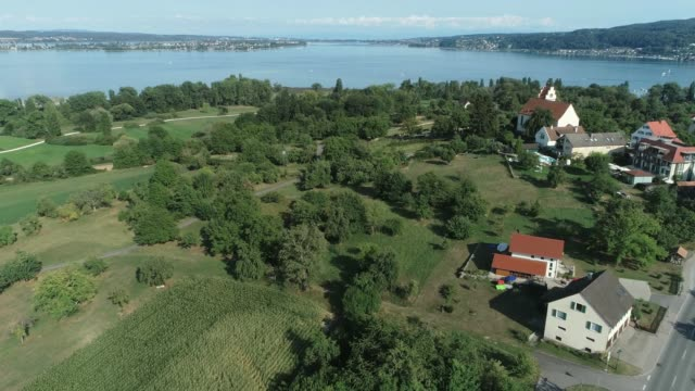 Aerial view Lake Constance and Horn video