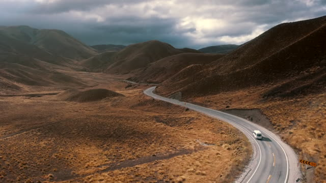 航空写真 リンディスパスカントリーロード - 陸の乗り物点の映像素材/bロール