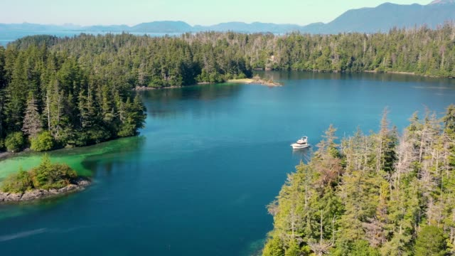 vidéos et rushes de vue aérienne de 3 entrance bay, tongass national forest, sitka, alaska, etats-unis - sitka
