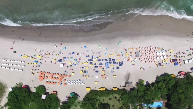 aerial view of a beach - aerial beach stock videos & royalty-free footage