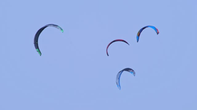 Aerial view of a kite surf regatta on the sea coastline, turquoise water, competition, water sports, event, racing, extreme sports, adventure, travel destinations, wanderlust
