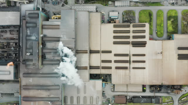 aerial view of a metallurgical plant. - metallurgia video stock e b–roll