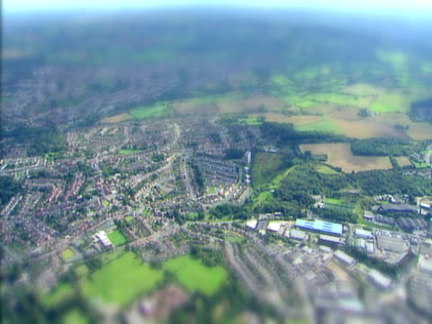 Aerial view of a miniature world. NTSC, PAL video