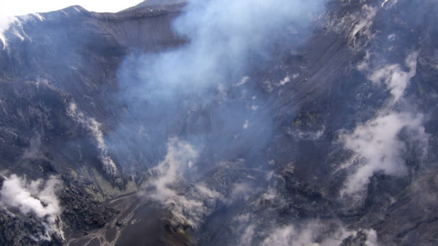 Aerial view of active volcano Tavurvur video