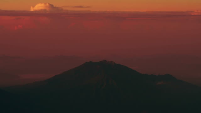 Aerial view of Agung Volcano, Bali video