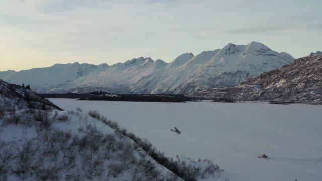 Aerial view of airplanes in Valdez, Alaska
