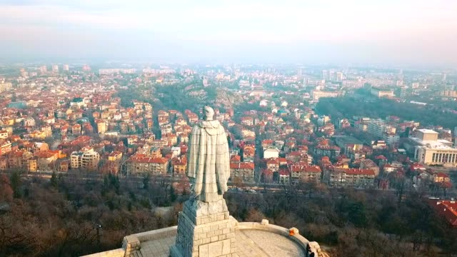 Aerial View of Alyosha Monument / Plovdiv - Bulgaria Aerial View of Alyosha Monument / Plovdiv - Bulgaria - 50 FPS Video eastern europe stock videos & royalty-free footage