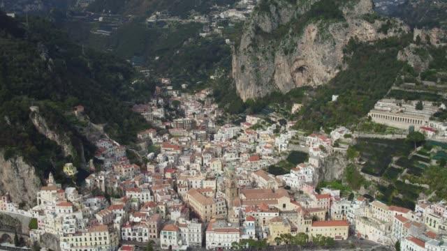 aerial view of Amalfi coastline in Italy