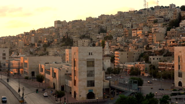 aerial view of amman city, the capital of jordan - vintage architecture stock videos & royalty-free footage