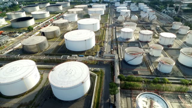 Aerial view of an oil terminal Aerial view of an oil terminal. gas pipe stock videos & royalty-free footage