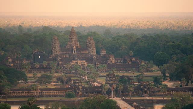 Aerial view of Ankor Wat, Siem Reap, Cambodia