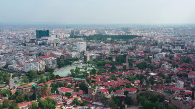 Aerial view of Antalya Old City