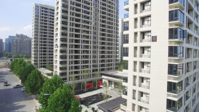 aerial view of apartment - appartamento video stock e b–roll