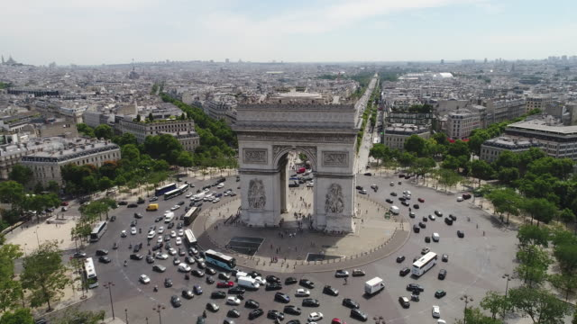 Aerial view of Arc of Triumph, Paris