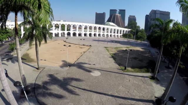 vídeos de stock e filmes b-roll de vista aérea de arcos da lapa - lapa