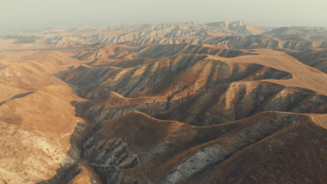 Aerial View of Arid Landscape Captured in Turkey. dry stock videos & royalty-free footage